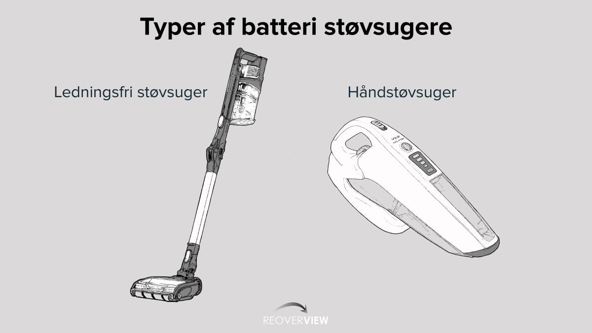 Typer af batteri støvsuger